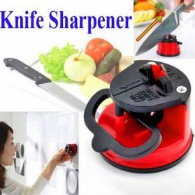 Kitchen Gadget Sucker Sharpener Knife / Pengasah Pisau - Red