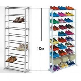 Amazing Shoes Rack / Rak Sepatu atau Sandal - White - 4