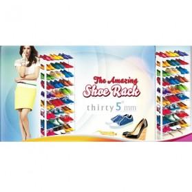 Amazing Shoes Rack / Rak Sepatu atau Sandal - White - 5