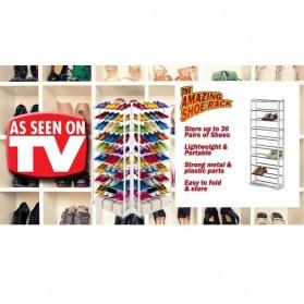 Amazing Shoes Rack / Rak Sepatu atau Sandal - White - 6