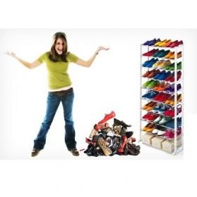 Amazing Shoes Rack / Rak Sepatu atau Sandal - White - 7