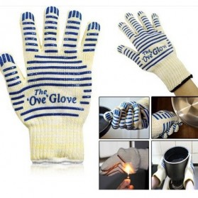 OVE Sarung Tangan Oven Masak Heat Resistant Oven Gloves - 540F - White