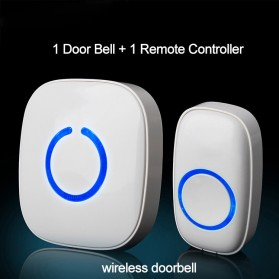 Taffware Door Bell FX-C Wireless Waterproof Door Bell (One Driven One) - EGG331 - White