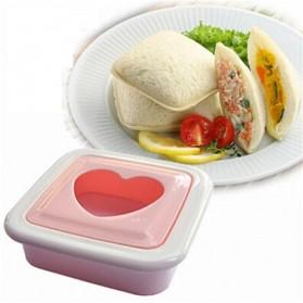 Sandwich Toaster Heart Shaped Mold / Cetakan Kue Hati - White