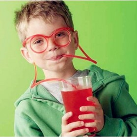 Funny Creative Children Eyes Straw / Sedotan Kacamata