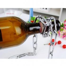 Creative Suspension Chain Wine Rack / Rak Rantai Anggur - HG5625 - Silver - 2