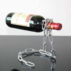 Creative Suspension Chain Wine Rack / Rak Rantai Anggur - HG5625 - Silver - 3