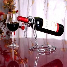 Creative Suspension Chain Wine Rack / Rak Rantai Anggur - HG5625 - Silver - 4