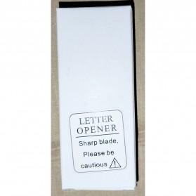 Pisau Mini Cutter Letter Opener Self Defense Portable Knife Survival Tool Cold Steel - K11 - Black - 7