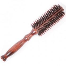 Fajiang Flower Round Head Comb Japan Sisir Rambut Blow - Brown