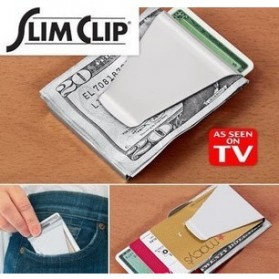 Stainless Steel Wallet Money Clip / Besi Penjepit Uang - Silver - 2