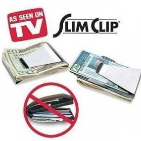 Stainless Steel Wallet Money Clip / Besi Penjepit Uang - Silver - 3
