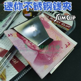 Stainless Steel Wallet Money Clip / Besi Penjepit Uang - Silver - 4