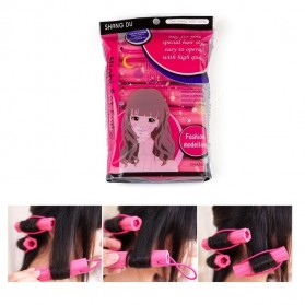 AI SHANG Roll Keriting Rambut Night Set Curler 6 PCS - 696 - Pink - 1