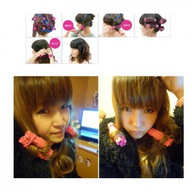 AI SHANG Roll Keriting Rambut Night Set Curler 6 PCS - 696 - Pink - 2