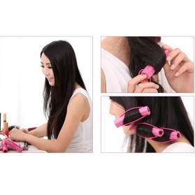 AI SHANG Roll Keriting Rambut Night Set Curler 6 PCS - 696 - Pink - 5