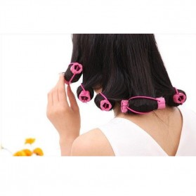 AI SHANG Roll Keriting Rambut Night Set Curler 6 PCS - 696 - Pink - 6