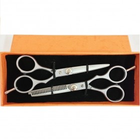 Gunting Rambut - Barber Color Split Steel Scissors / Gunting Rambut Sasak - Silver
