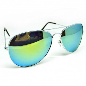 Aoron Polarized Ray Vintage Women and Man Outdoor Sunglasses - 3026 - Silver/Gold - 2