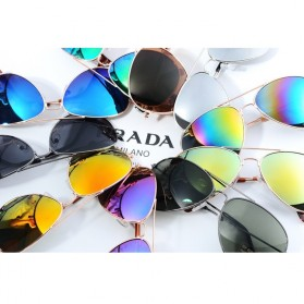 Aoron Polarized Ray Vintage Women and Man Outdoor Sunglasses - 3026 - Silver/Gold - 3