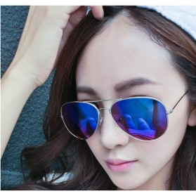 Aoron Polarized Ray Vintage Women and Man Outdoor Sunglasses - 3026 - Silver Blue - 2