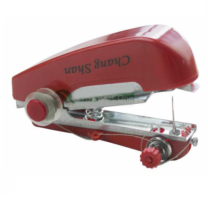 ... Mini Manual Sewing Household Machines / Mesin Jahit Portable - Red - 1 ...