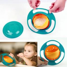 Children Plastic Gyro Bowl / Tempat Makanan Bayi - Blue
