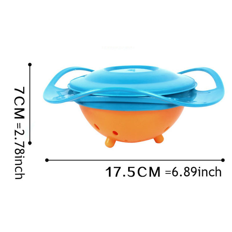 ... Children Plastic Gyro Bowl / Tempat Makanan Bayi - Blue - 6 ...
