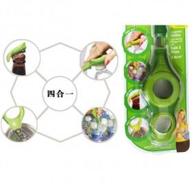 Multi Function 4 in 1 Bottle Opener Open It / Pembuka Botol - Green