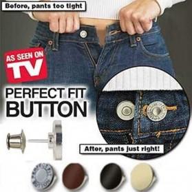 TV Perfect Fit Button Jeans Elastic Button / Kancing Celana - 1