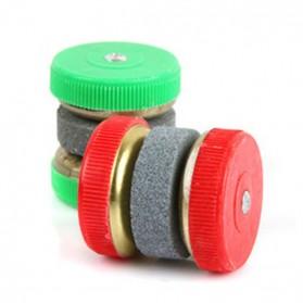 Multifunction Round Stone Sharpener / Pengasah Pisau - Red