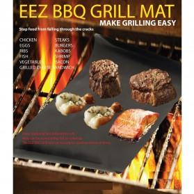 Easy Barbeque Grill Mat / Kertas Pemanggang BBQ - Black