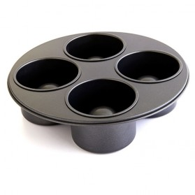 Bistro Bowls Four Hole Pot Cake Mold / Cetakan Kue - Black
