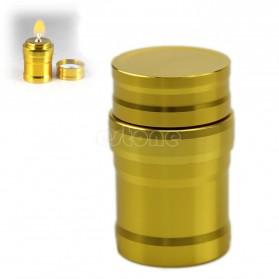 Portable Mini 10ml Alcohol Burner Lamp Aluminium Case - Golden - 2