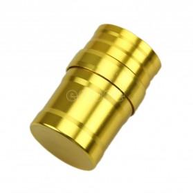 Portable Mini 10ml Alcohol Burner Lamp Aluminium Case - Golden - 3