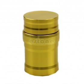 Portable Mini 10ml Alcohol Burner Lamp Aluminium Case - Golden - 4