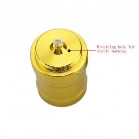 Portable Mini 10ml Alcohol Burner Lamp Aluminium Case - Golden - 5