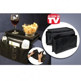 Arm Rest Organizer Sofa Edge Hang Bags - Black - 2