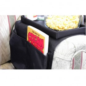 Arm Rest Organizer Sofa Edge Hang Bags - Black - 4