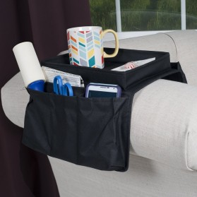 Arm Rest Organizer Sofa Edge Hang Bags - Black - 5