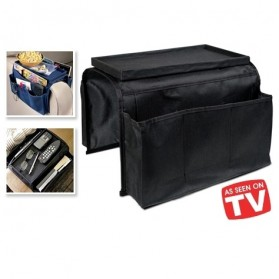 Arm Rest Organizer Sofa Edge Hang Bags - Black - 7