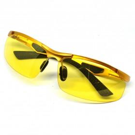 Stylist Anti Glare Glasses / Kacamata - Golden
