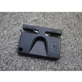 Gerber Pengasah Pisau Mini Portable Pocket Knife Sharpener - GLKS-2 - Black - 6
