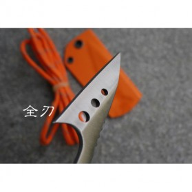 Toot Edge Pisau Berburu Ikan Fish Hunting Knife Survival Tool with Sheath Strap - D2 - 3