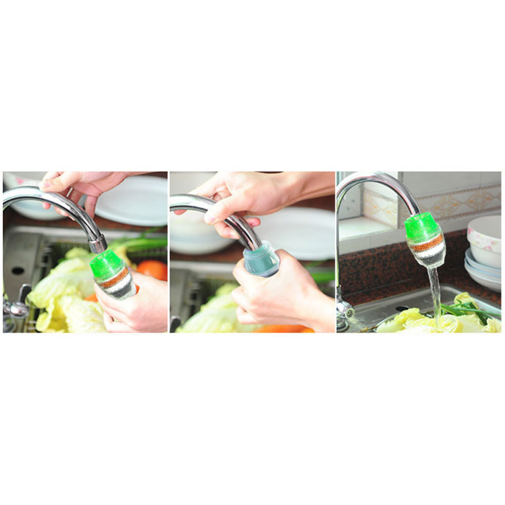 RLHQG Tap Water Clean Purifier Filter for 16-19mm Faucet / Filter Keran Air  - HY-028 - Green