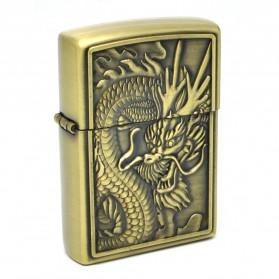 Korek Api Besi Motif Naga - Golden