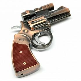 Pemantik Api Model Pistol dengan Laser - Bronze