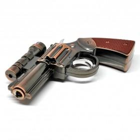 Pemantik Api Model Pistol dengan Laser - Bronze - 2