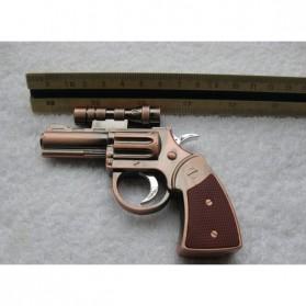 Pemantik Api Model Pistol dengan Laser - Bronze - 5