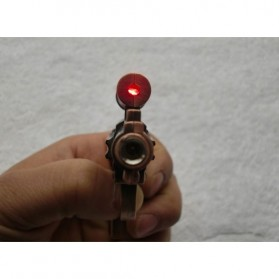 Pemantik Api Model Pistol dengan Laser - Bronze - 7